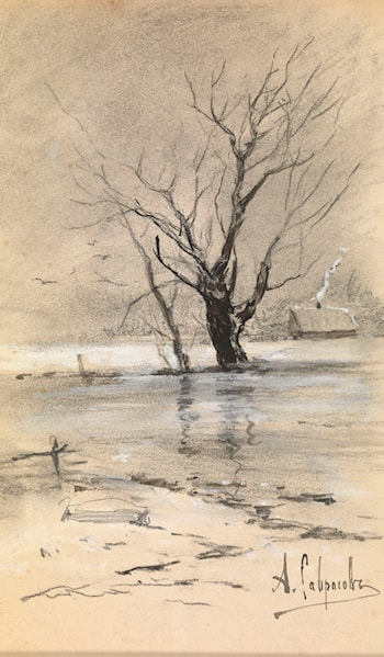 Edge of the Village in Winter by Aleksey Savrasov