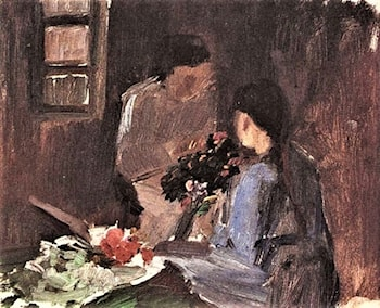 Arranging Flowers by Anna Ancher