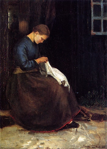 Girl Plucking a Goose by Anna Ancher