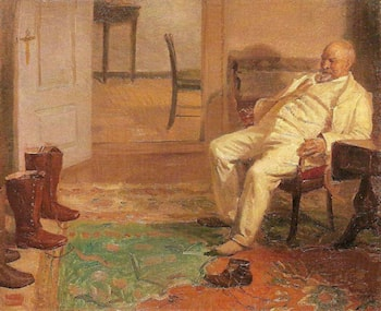 The New Hunting-boots by Anna Ancher
