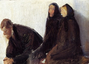 Seated Churchgoers by Anna Ancher