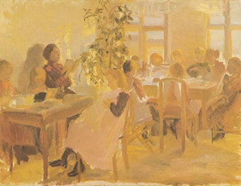 Sewing Class by Anna Ancher