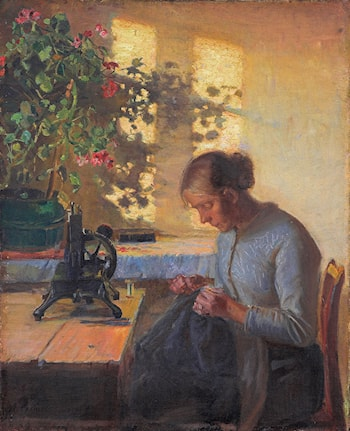 Syende Fiskerpige by Anna Ancher