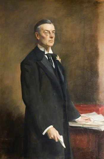 The Right Honourable Joseph Chamberlain (1836–1914), PC, MP by Oswald Hornby Joseph Birley
