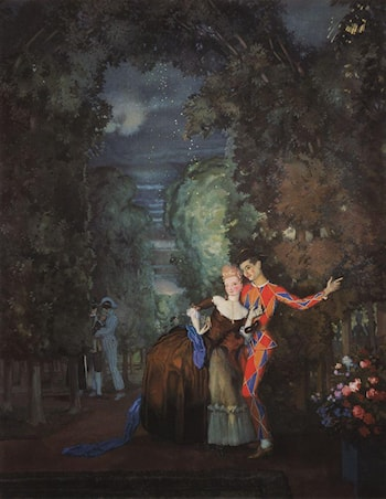 Lady and Harlequin by Konstantin Somov