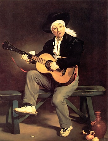 The Spanish Singer by Edouard Manet