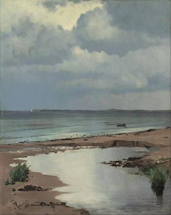 From the Beach at Hornbæk by Frants Henningsen