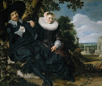 Marriage Portrait of Isaac Massa en Beatrix van der Laen by Frans Hals