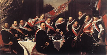 Banquet of the Officers of the St. George Civic Guard by Frans Hals