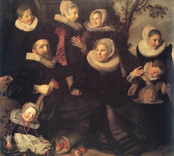 Family Portrait in a Landscape by Frans Hals