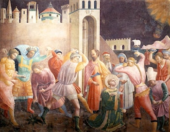 Stoning of St Stephen by Paolo Uccello