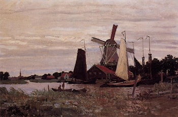 A Windmill at Zaandam by Claude Monet