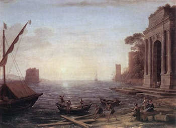 A Seaport at Sunrise by Claude Lorrain
