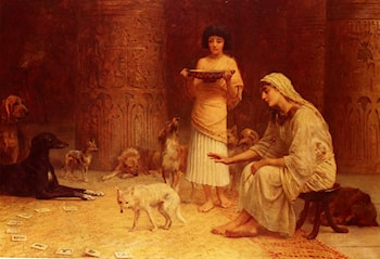 Preparing For The Festival Of Anubis by Edwin Longsden Long