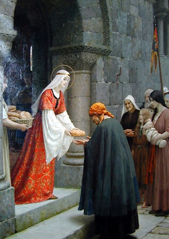 The Charity of St. Elizabeth of Hungary by Edmund Blair Leighton