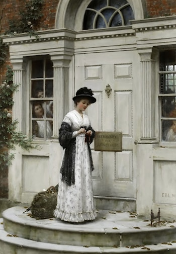 The New Governess by Edmund Blair Leighton