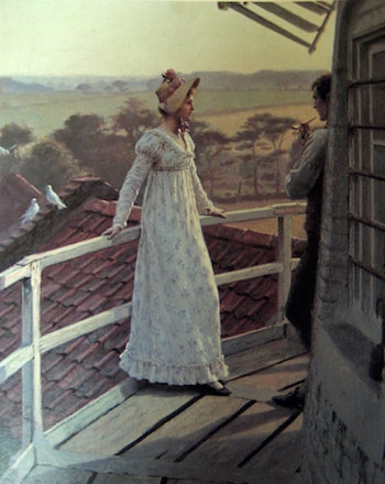 The Windmiller's Guest by Edmund Blair Leighton