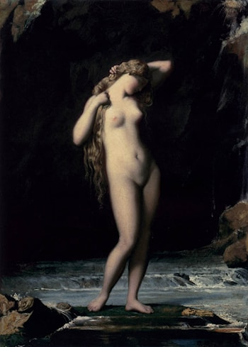 The Bather by Henri Lehmann