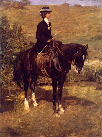 An Equestrian Lady by John Lavery