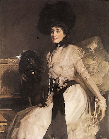 The Black Poodle by John Lavery