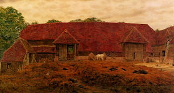 The Old Barn At Whitchurch by George Price Boyce
