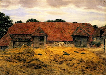 Old Barn at Whitchurch, Oxon by George Price Boyce
