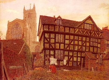 Church And Ancient Uninhabited House At Ludlow by George Price Boyce