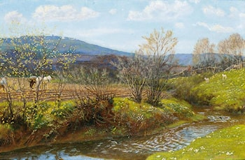 A Spring Afternoon by Arthur Hughes