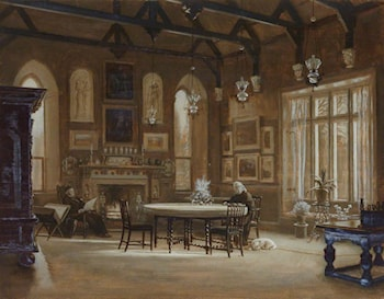 Banqueting Hall at Penkill, Ayrshire by Arthur Hughes