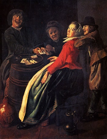 A Game Of Cards by Judith Leyster