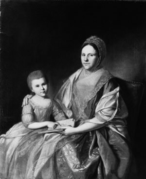Mrs. Samuel Mifflin and Her Granddaughter Rebecca Mifflin Francis by Charles Willson Peale