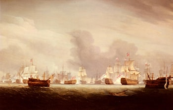 The Battle Of The Glorious 1st Of June 1794 by Thomas Whitcombe
