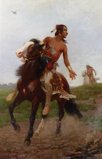 The Indian Braves by Georg Heinrich Kuhrner