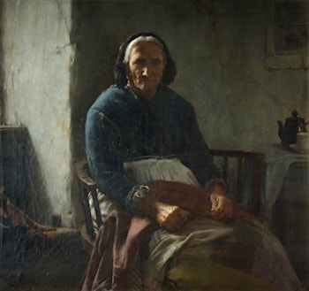 An Old Cornish Woman by Walter Langley
