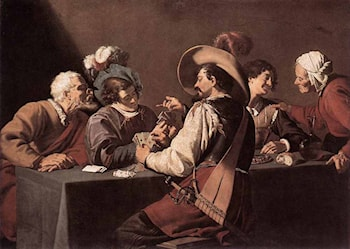 The Card Players by Theodoor Rombouts